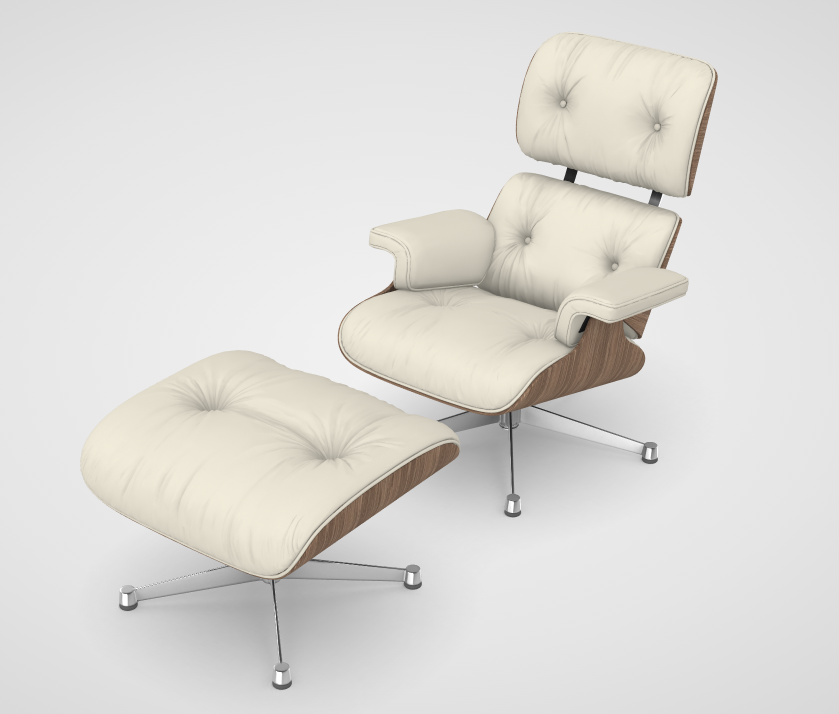 Furniture 3d models for AR project Eames png