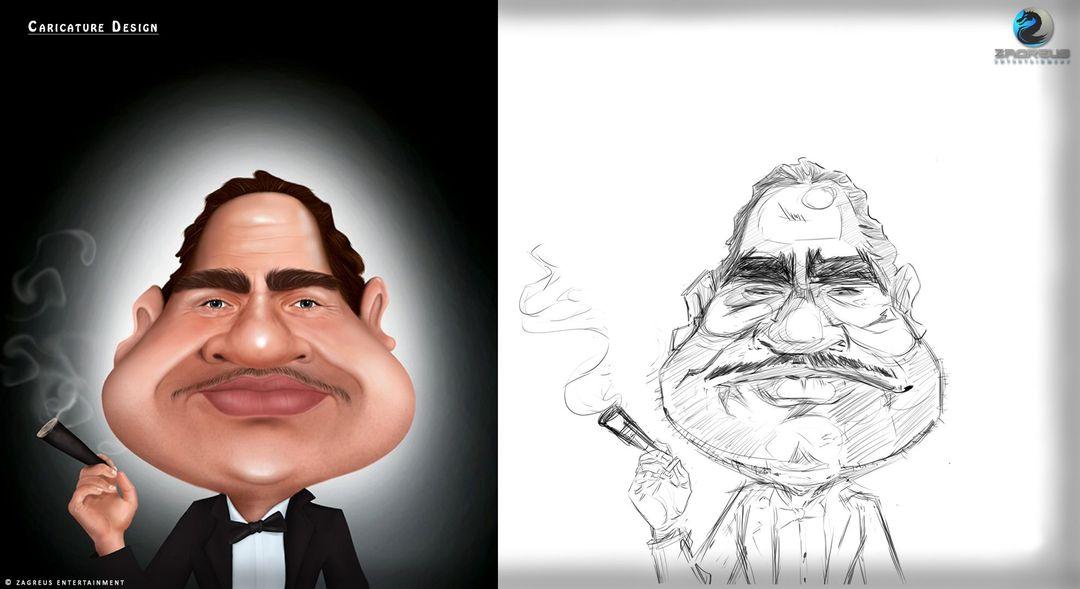 2D Concepts, Sketches & Illustrations 2D Caricature ZE jpg