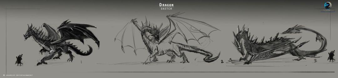 2D Concepts, Sketches & Illustrations Dragon Concept Art ZE jpg