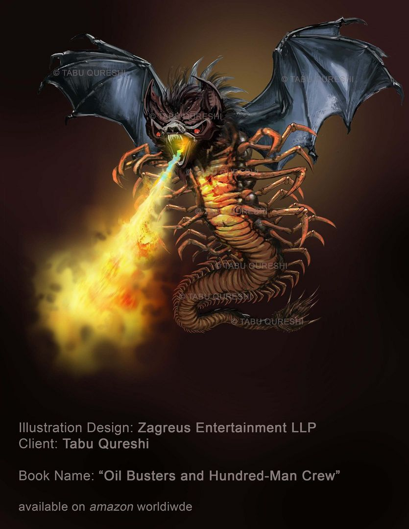 2D Concepts, Sketches & Illustrations Oil Monster ZE jpg