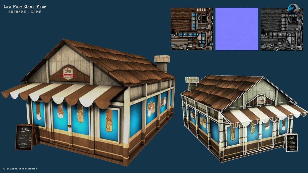 3D Gaming Props (vehicles, guns, house, machine etc) Coffee Shop ZE jpg