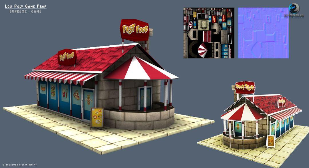 3D Gaming Props (vehicles, guns, house, machine etc) Food Chain ZE jpg