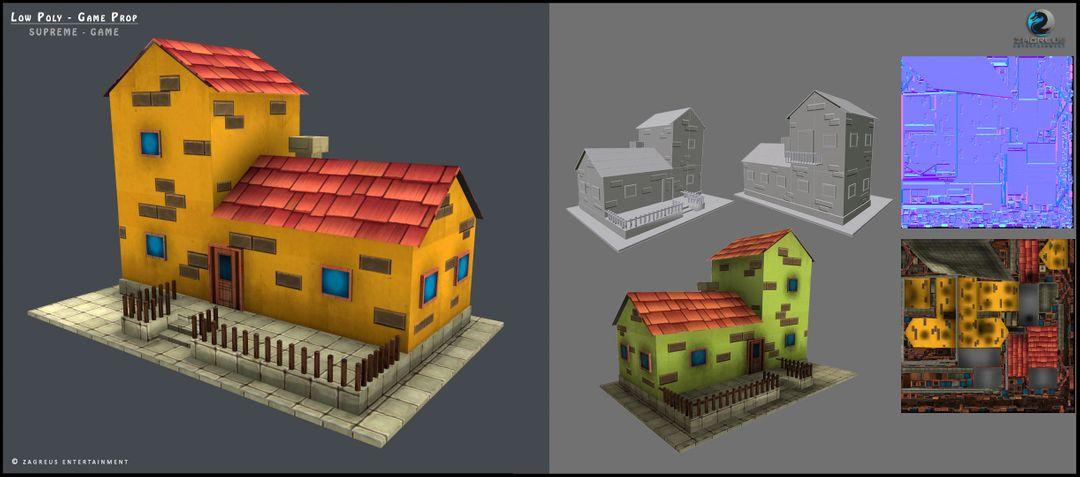 3D Gaming Props (vehicles, guns, house, machine etc) House module 4 ZE jpg