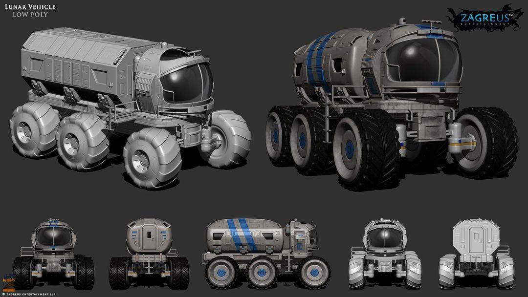 3D Gaming Props (vehicles, guns, house, machine etc) Lunar Vehicle ZE jpg