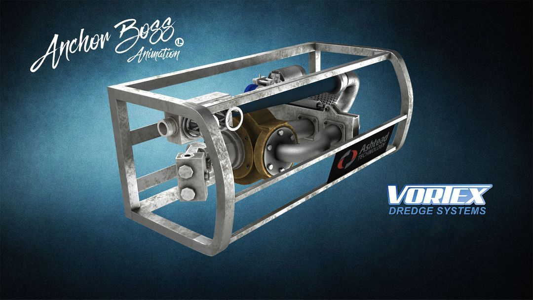 Vortex Dredge System - 3D model and animation product 3D animation 1 jpg