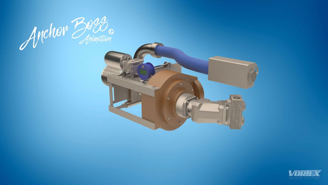 Vortex Dredge System - 3D model and animation product 3D animation 5 jpg