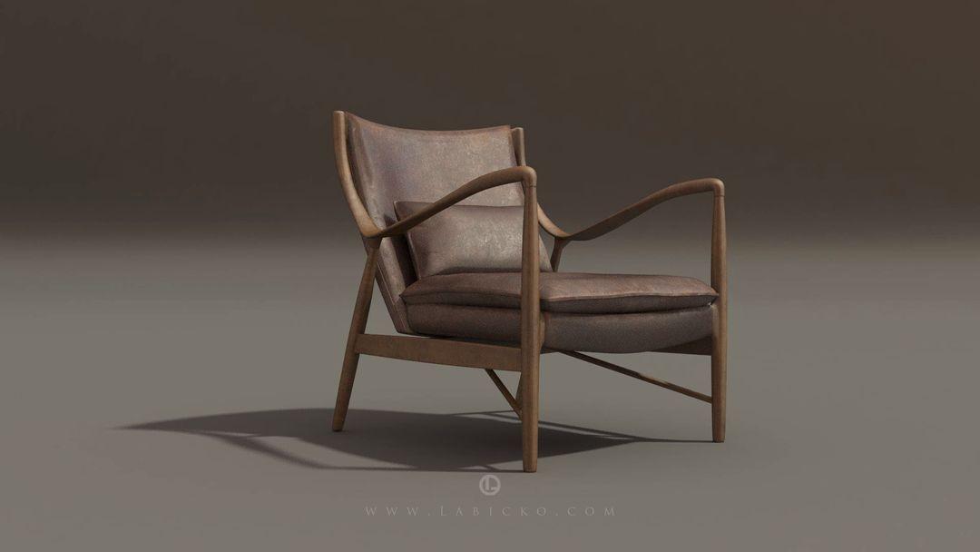 Furniture 3D models Leather Armchair 3D Model WebGL 4 jpg