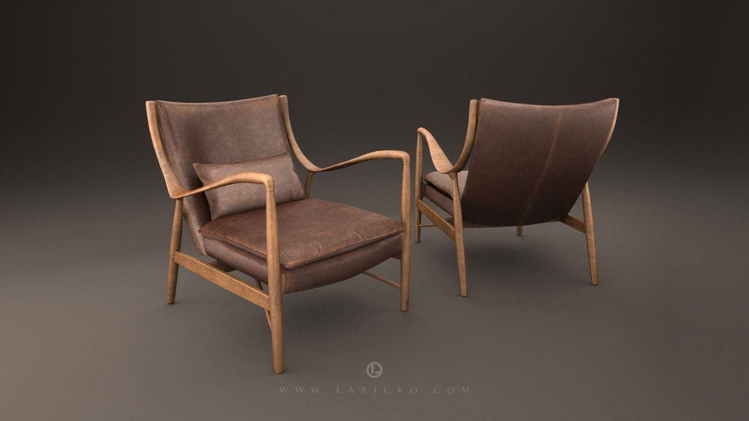 Furniture 3D models Leather Armchair 3D Model WebGL 5 jpg