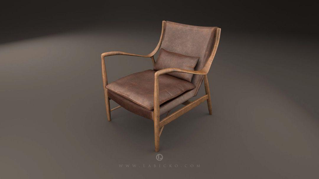Furniture 3D models Leather Armchair 3D Model WebGL 6 jpg