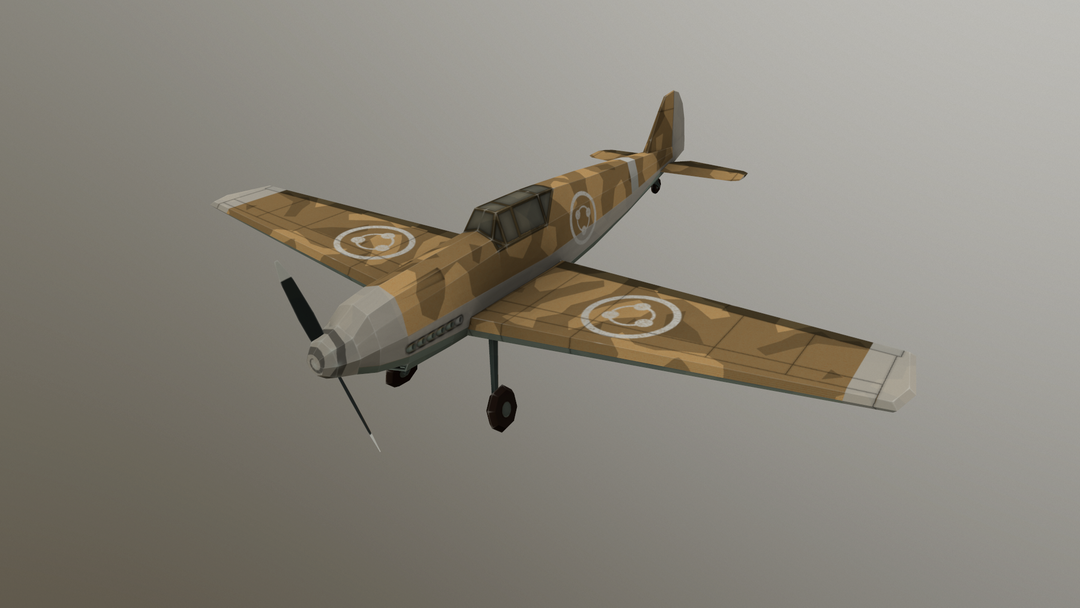Hand painted 3d models Plane png