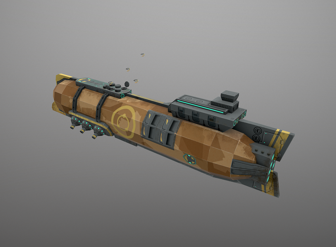 Hand painted 3d models Zeppelin01 png