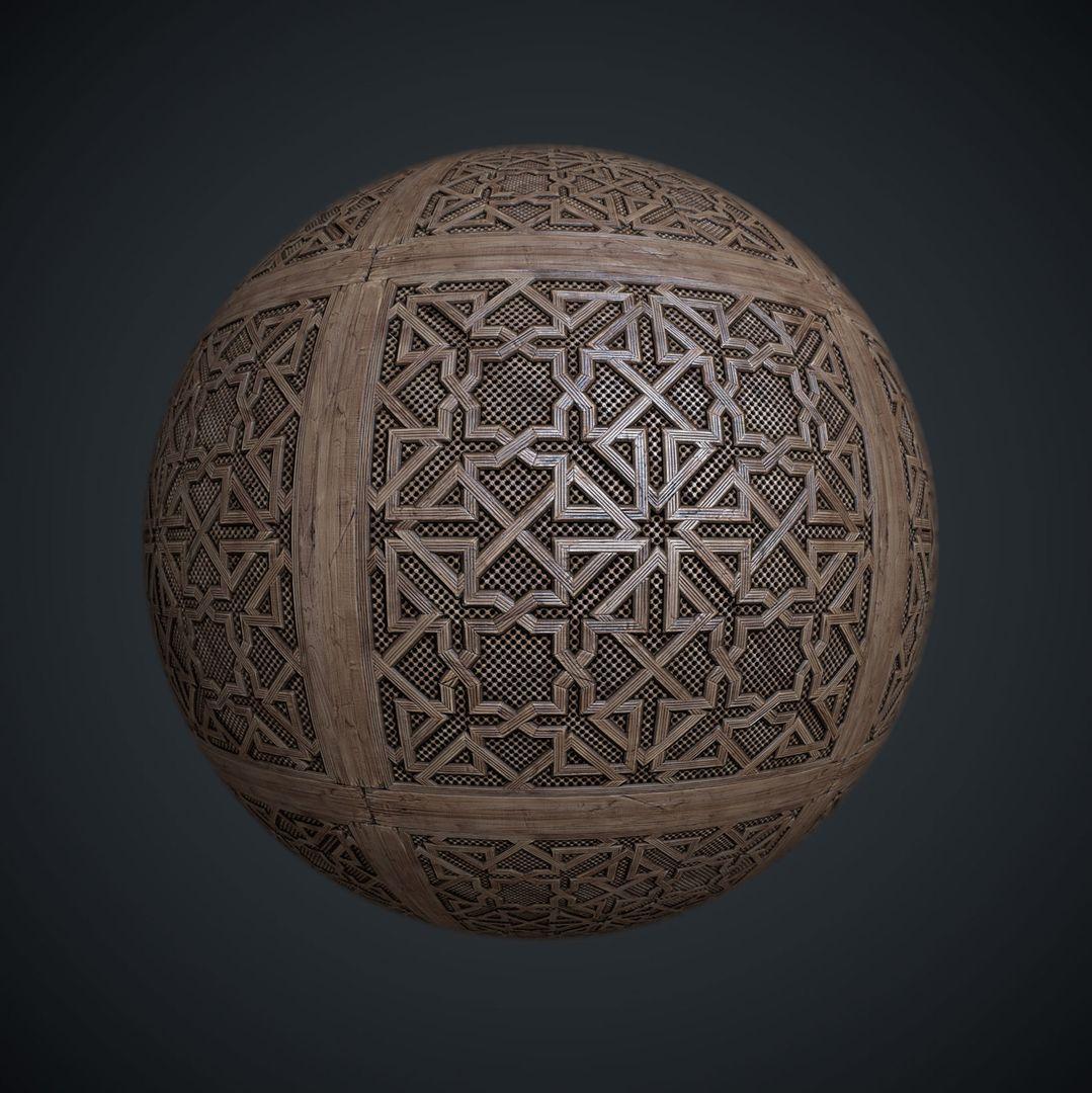 Tilable textures Moorish lattice 01 jpg