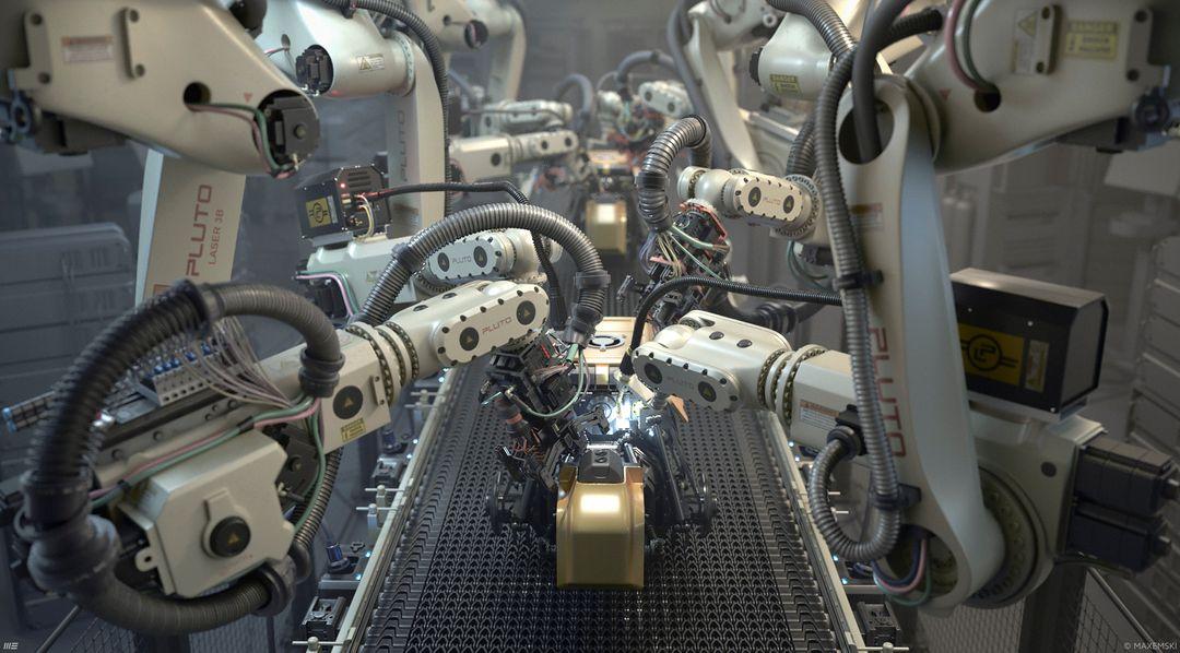 Hard Surface 3D Modeling Robotic Arms robotix jpg