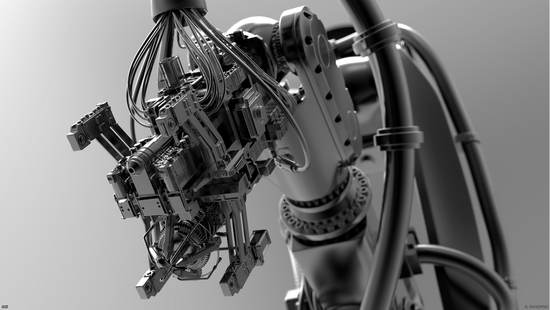 Hard Surface 3D Modeling Robotic Arms robotix 4 png