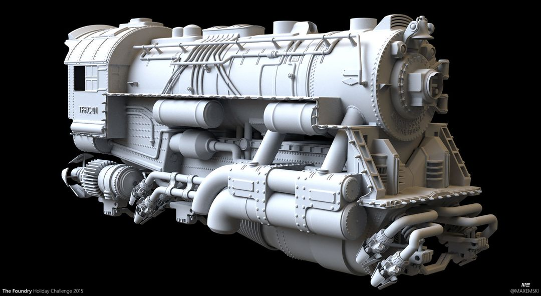 Hard Surface 3D Modeling. The Foundry Express. max emski tfhc15 loko maxemski jpg