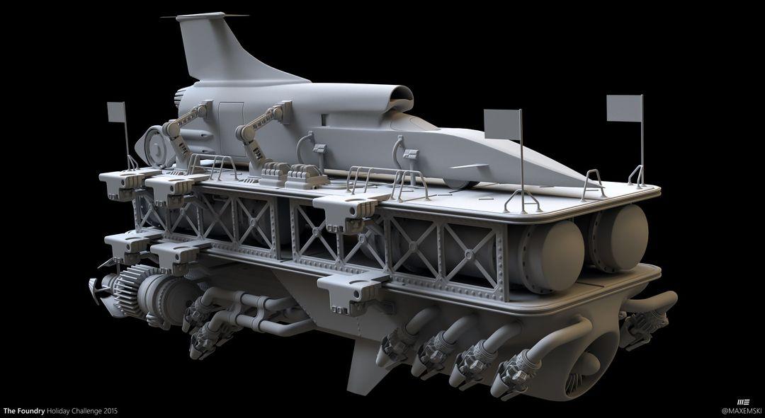 Hard Surface 3D Modeling. The Foundry Express. max emski tfhc15 modo maxemski jpg