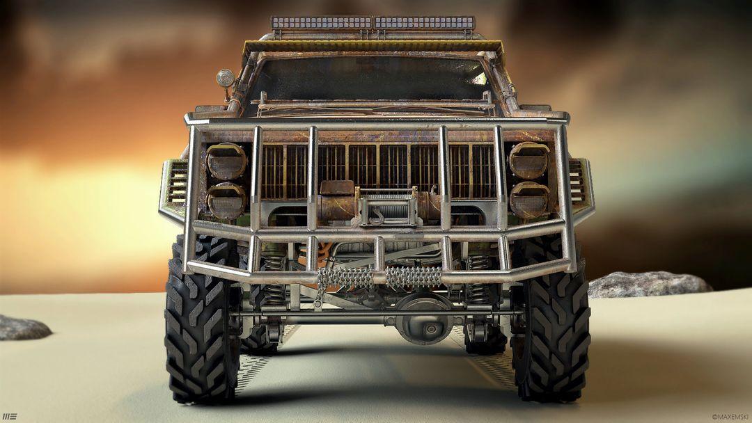 Hard Surface 3D Modeling. Navuhodonosor. max emski jeep maxemski front jpg