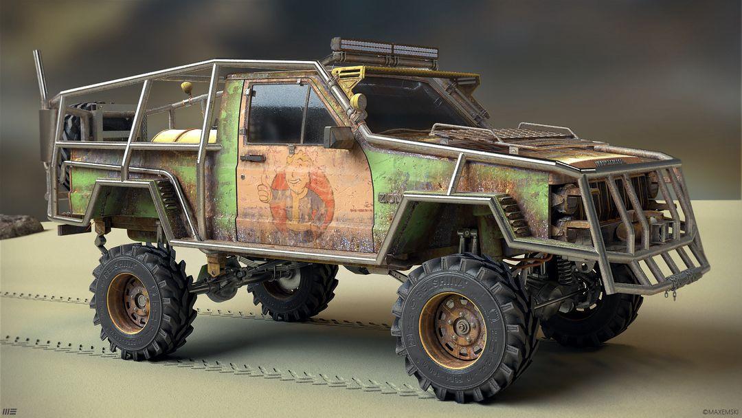 Hard Surface 3D Modeling. Navuhodonosor. max emski jeep maxemski right jpg