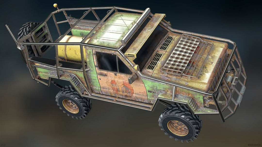 Hard Surface 3D Modeling. Navuhodonosor. max emski jeep maxemski top jpg