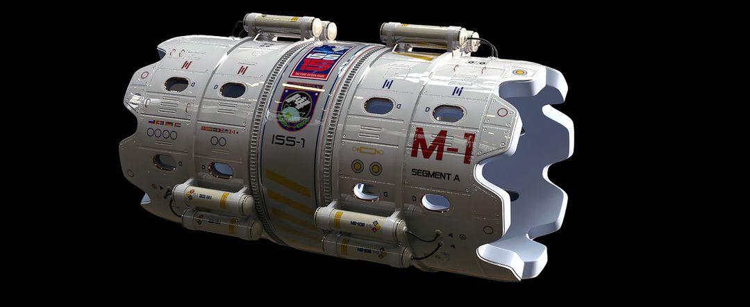 Hard Surface 3D Modeling. Science Station. max emski sst 5 jpg