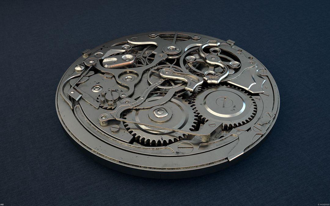 Hard Surface 3D Modeling. Old Watch. Subdivision modeling. a9ef1845976117 5843d574c2161 jpg