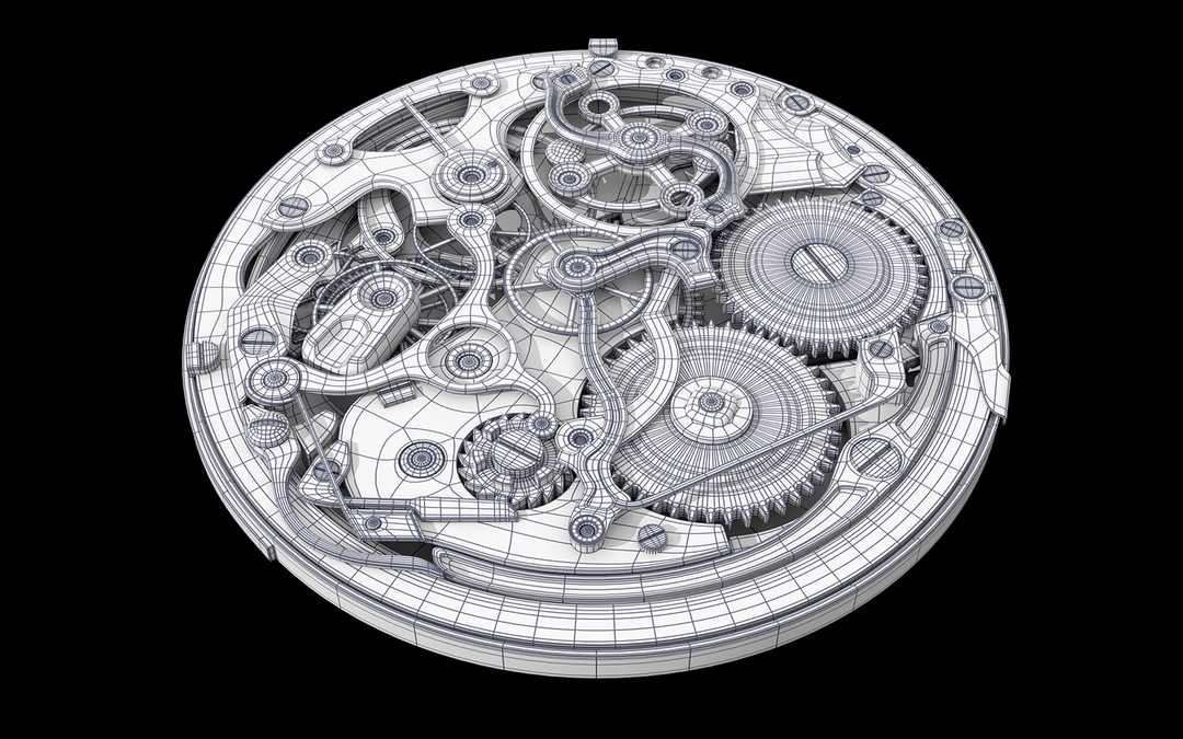 Hard Surface 3D Modeling. Old Watch. Subdivision modeling. c4504545976117 58a02927c95ea png