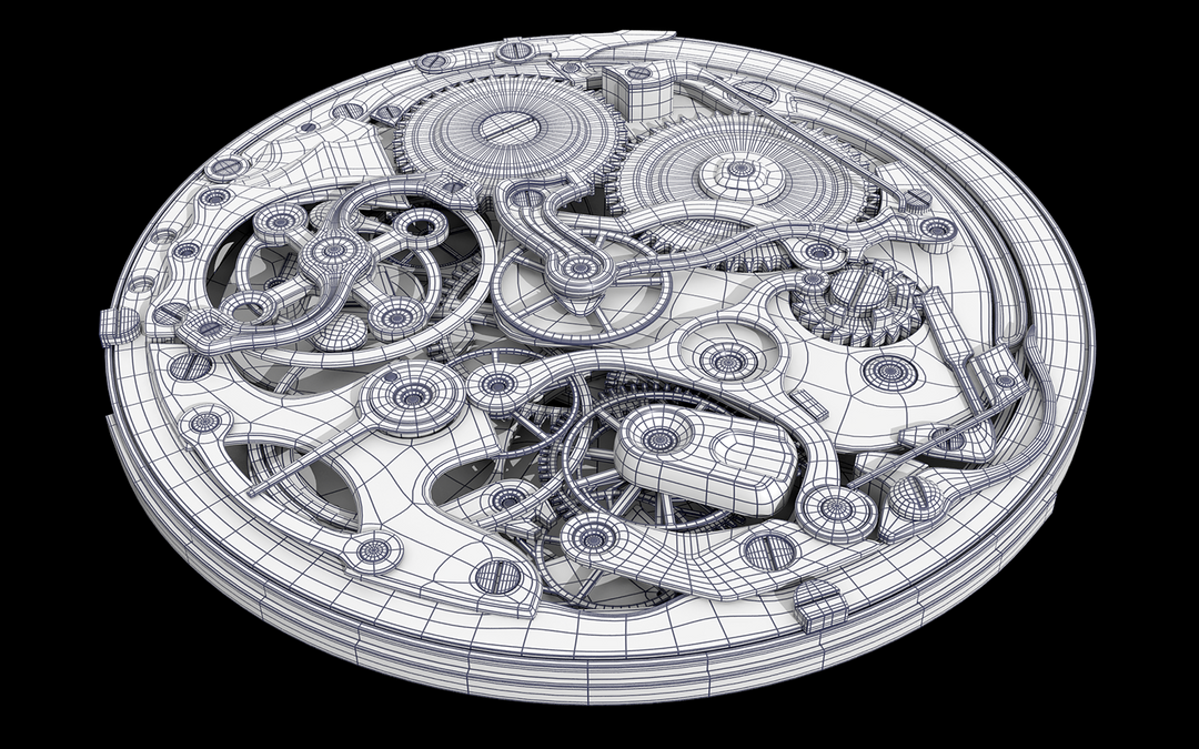 Hard Surface 3D Modeling. Old Watch. Subdivision modeling. e54ae445976117 58a02927c9269 png