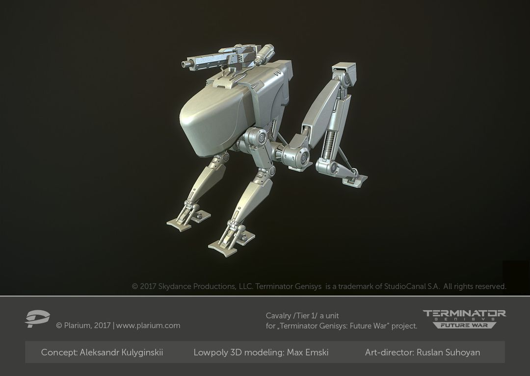 Hard Surface 3D Modeling for Games. High Poly and Low Poly 3D Models. max emski s cavalry t1 low poly jpg