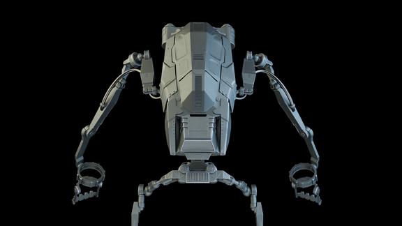 Hard Surface 3D Modeling. Exoskeleton.