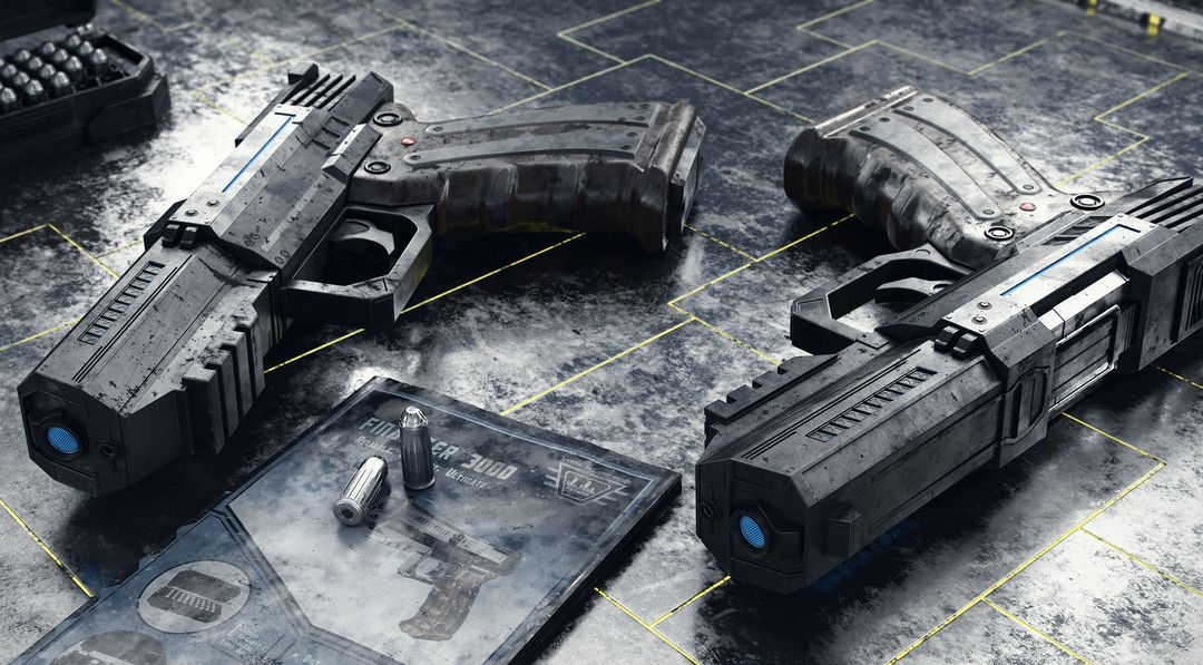 My Best Works Sci Fi Handgun jpg