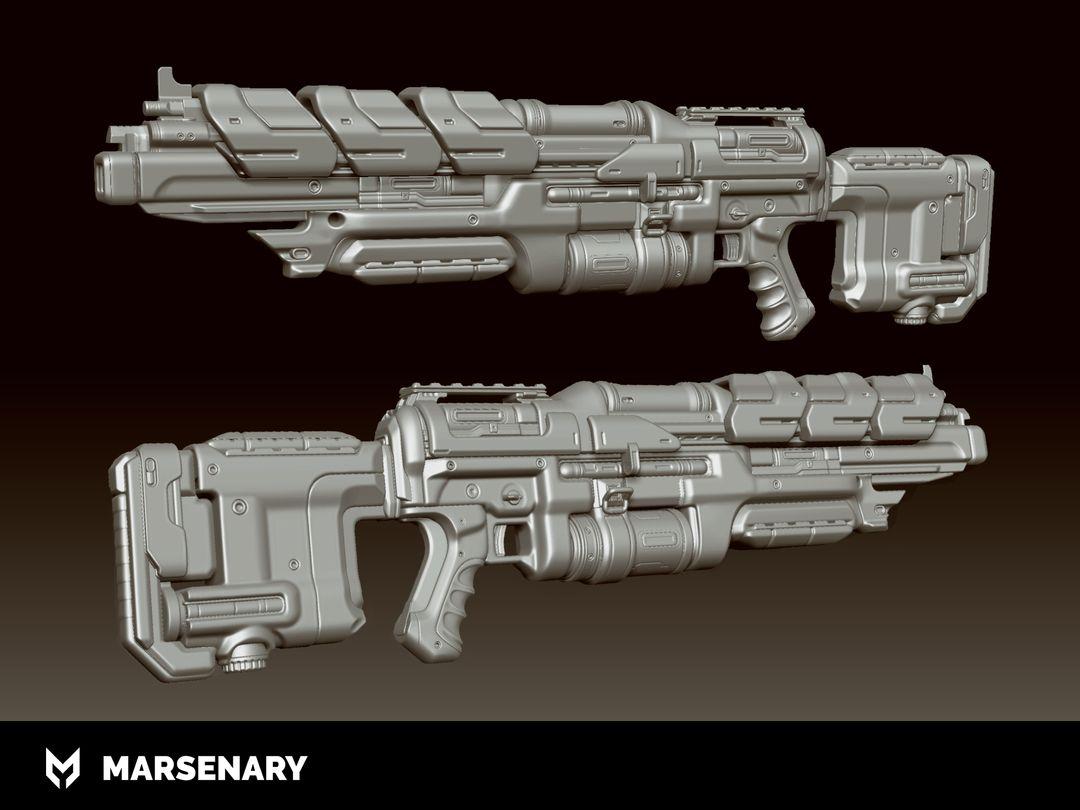 Hard Surface Weapon BR P 01 Highpoly jpg