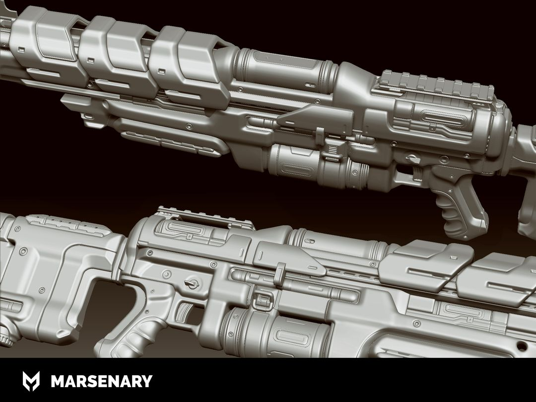 Hard Surface Weapon BR P 02 Highpoly jpg