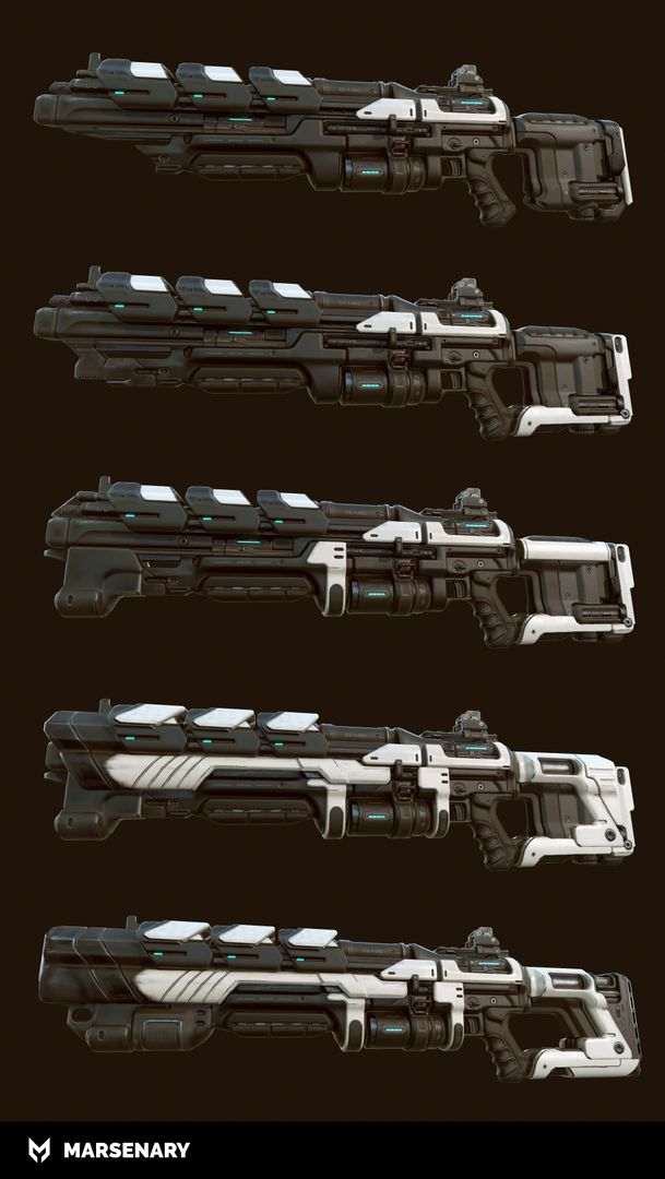 Hard Surface Weapon BR P 03 Lowpoly jpg