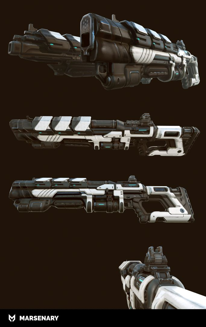Hard Surface Weapon BR P 04 Lowpoly jpg