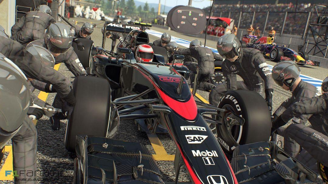 McLaren Formula 1 Vehicle Created for F1 2015 f1 2015 mclaren pit jpg