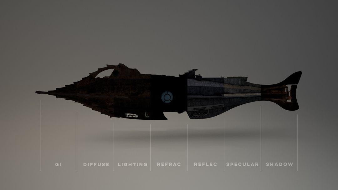 Nautilus Submarine 3D Modeling and texturing - Disney NautilusWeb Breakdown01 jpg