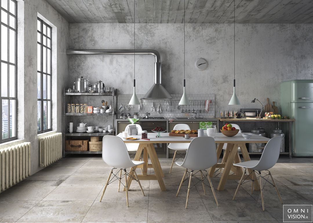 Architectural visualization RetroStyle Kitchen LOGO jpg