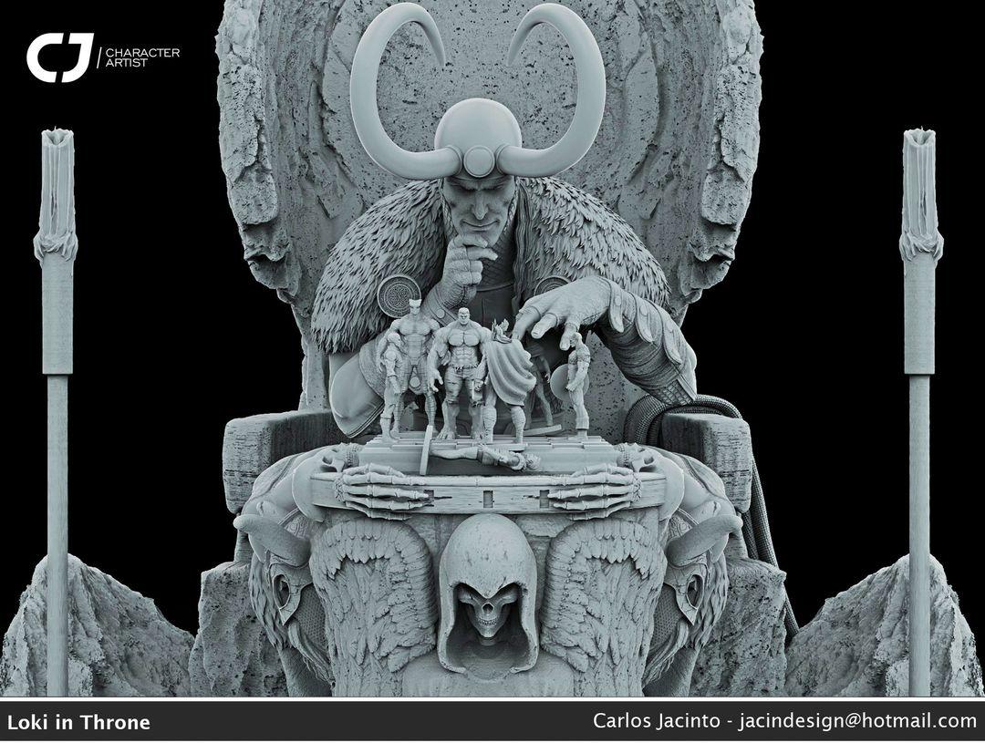 3D Character Portfolio carlos jacinto clay render front jpg
