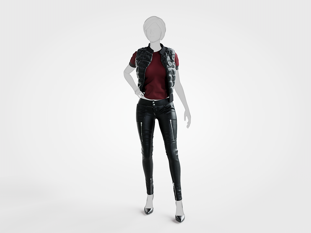 Fabric Modeling leather png