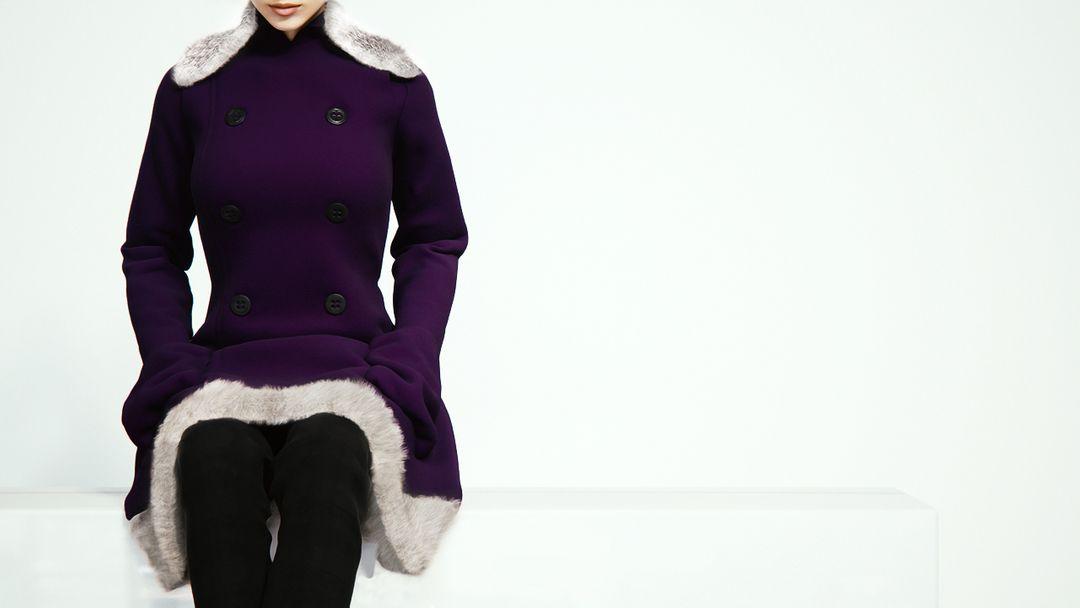 Fabric Modeling winter garment jpg
