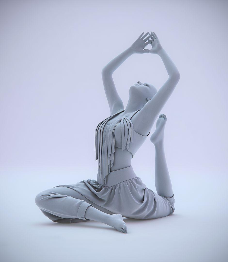 Fabric Modeling yoga pose jpg
