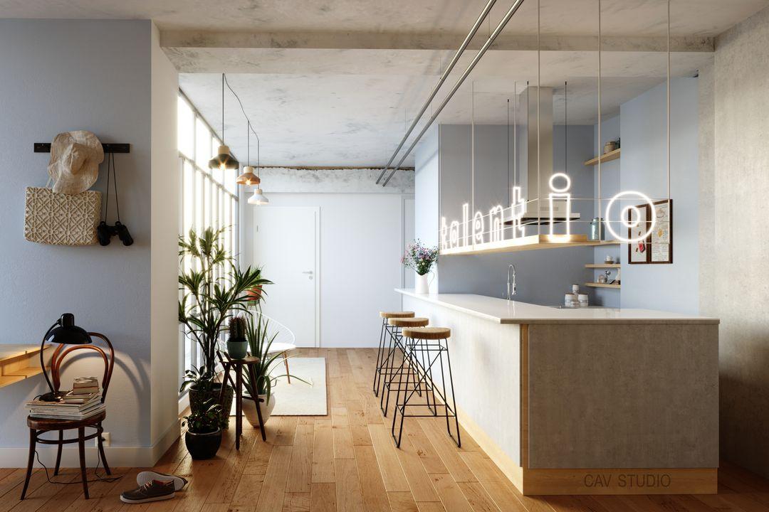 Archviz Poftfolio Kitchen rendering 1 jpg