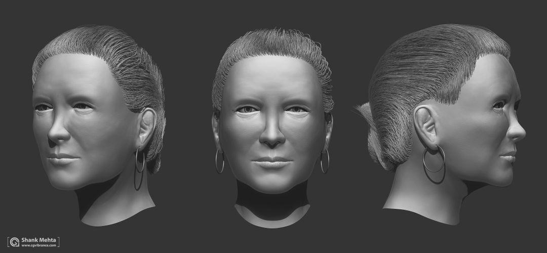 Organic Sculpting and Modeling Fem wip jpg
