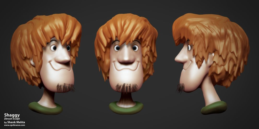 Organic Sculpting and Modeling Shaggy ALL jpg