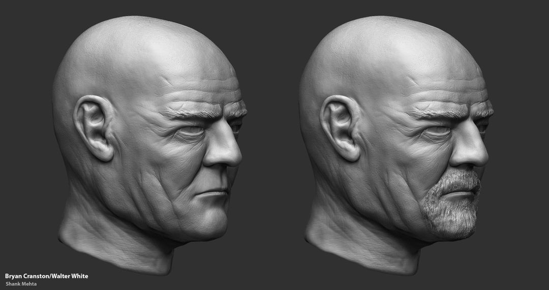 Organic Sculpting and Modeling Walter FinishedSculpt01 jpg