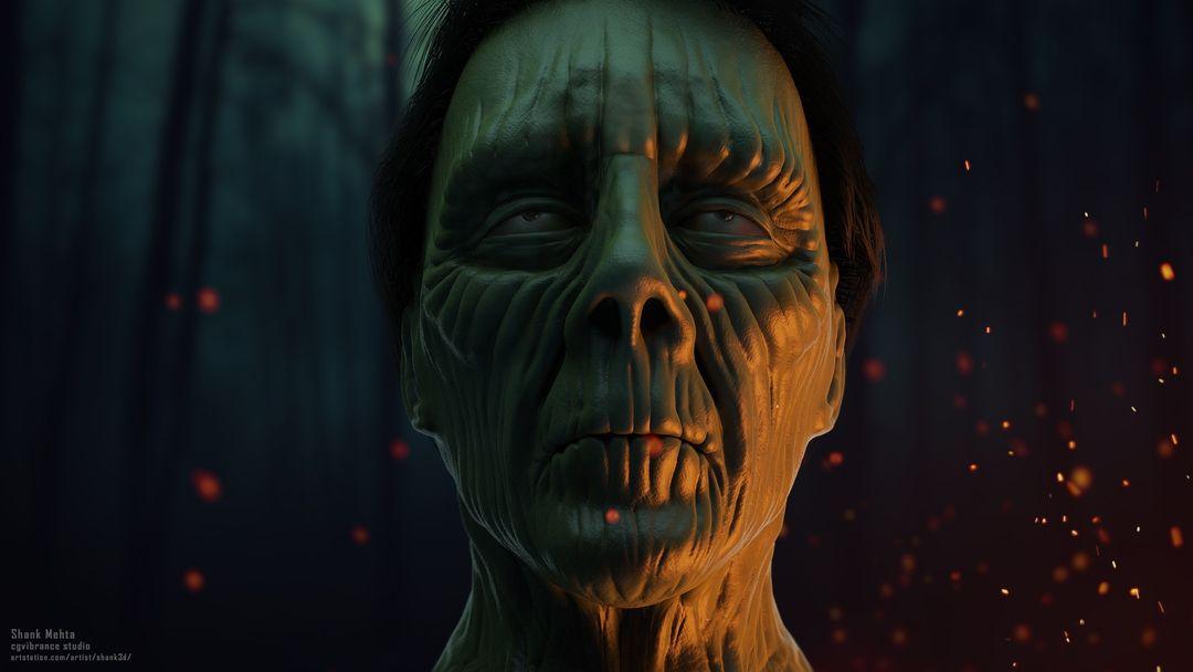 Organic Sculpting and Modeling Zombie01 SceneRender jpg