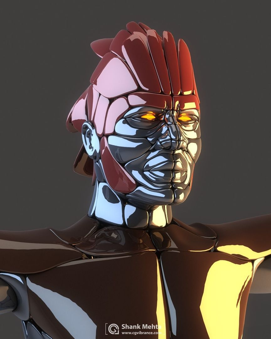 Hard Surface modeling and PBR Textures IronMale02 jpg