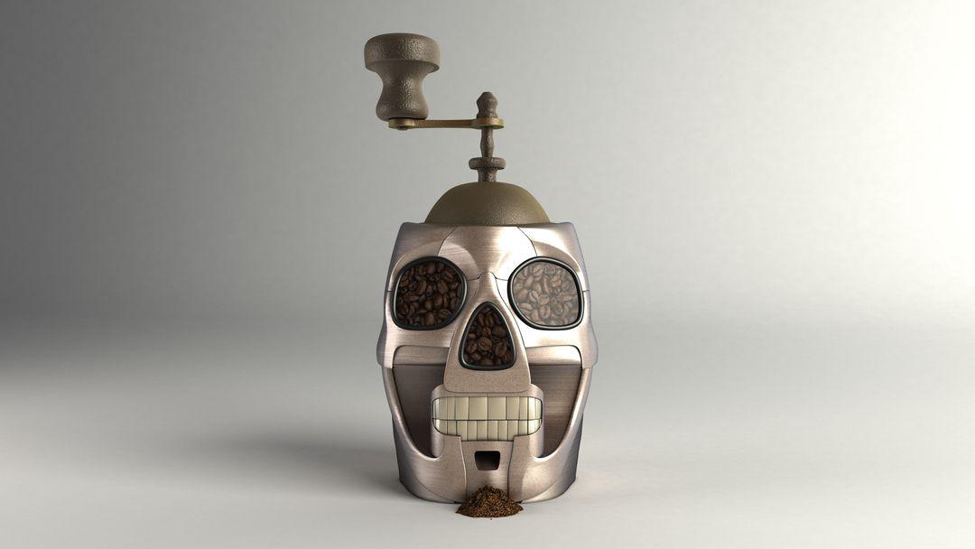 Hard Surface modeling and PBR Textures Skull Render02 jpg