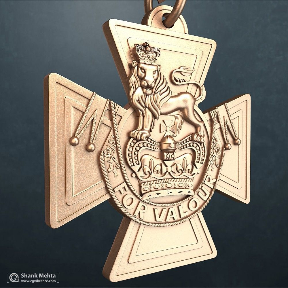 Hard Surface modeling and PBR Textures WarMedal 2 jpg