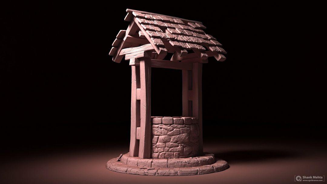 Hard Surface modeling and PBR Textures shashank mehta wellclay01 jpg